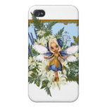 Summer Daisy Blue Fae Cases For iPhone 4