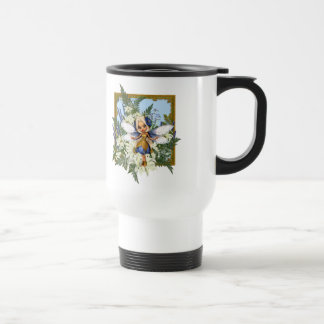 Summer Daisy Blue Fae Travel Mug