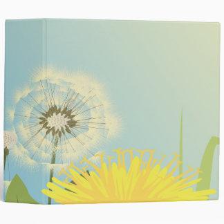 summer dandelions vector illustration binder
