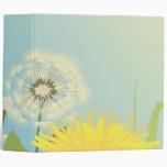 summer dandelions vector illustration vinyl binder