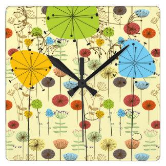 Summer Dandelions Wall Clock