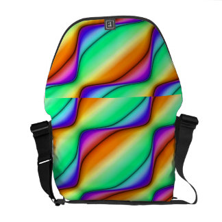 Summer Day Abstract Messenger Bags