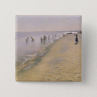 Summer Day at the South Beach of Skagen, 1884 Pinback Button