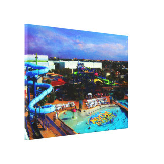 Summer Day At Water Park in Tropical Daytona Beach Canvas Print