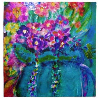 Summer Day Designer Floral Art Gift Collection Cloth Napkin