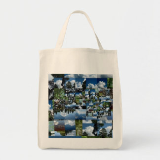 Summer day Grocery Tote Grocery Tote Bag
