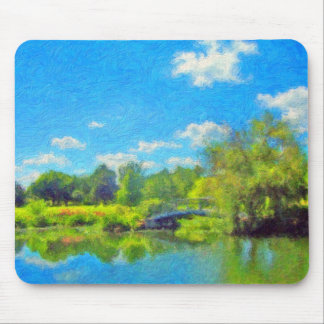 Summer Day in the Park by David Wagner Mousepad