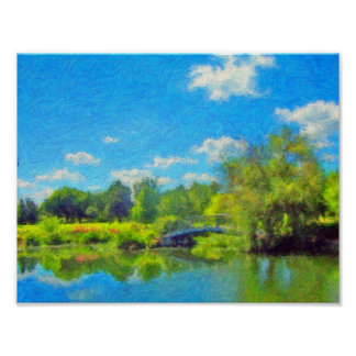 Summer Day in the Park by David Wagner Poster