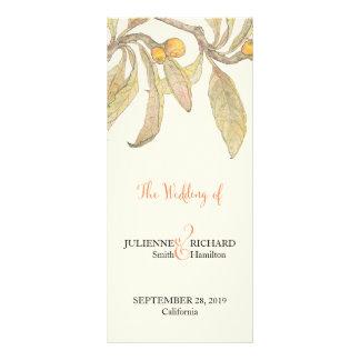 Summer Day   Vintage Botanical Wedding Program