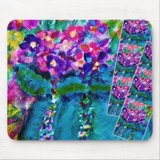 Summer Day Whimsical Designer Floral Art Gift Mouse Pad