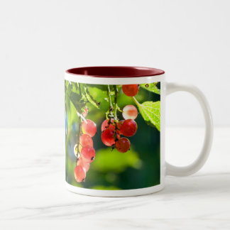 Summer day with red currant Two-Tone coffee mug