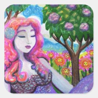Summer Daydream Square Sticker