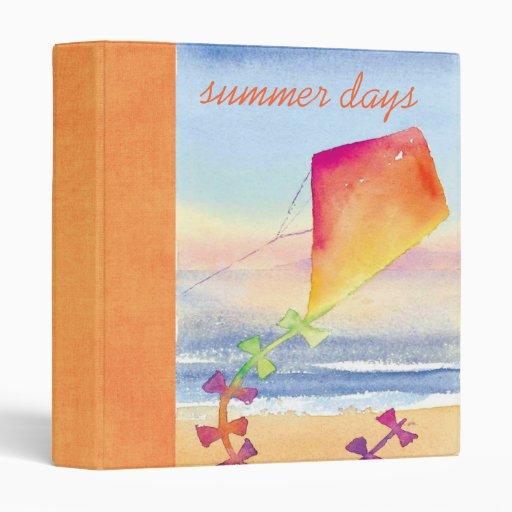 summer days scrapbook binder