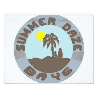 "Summer Daze 2 4.25"" X 5.5"" Invitation Card"