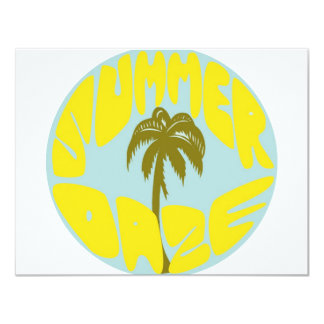 "Summer Daze 3 4.25"" X 5.5"" Invitation Card"