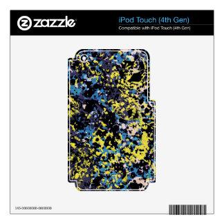 SUMMER DAZE (an abstract art design) ~ Decals For iPod Touch 4G