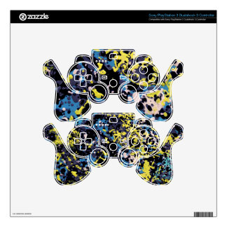 SUMMER DAZE (an abstract art design) ~ Skins For PS3 Controllers