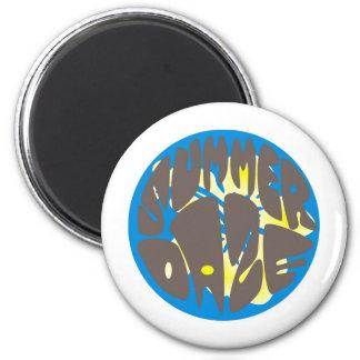 Summer Daze Blue Hibiscus Magnet