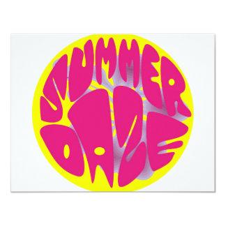 "Summer Daze Hibiscus 4.25"" X 5.5"" Invitation Card"