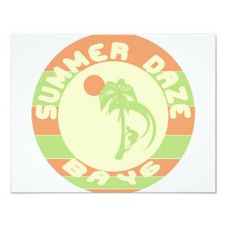 "Summer Daze 4.25"" X 5.5"" Invitation Card"