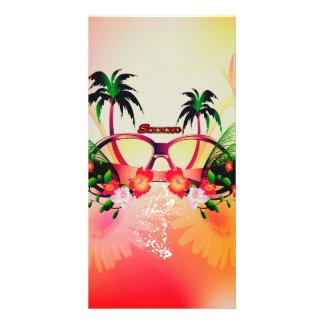 Summer design photo card