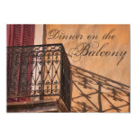 Summer Dinner on the Balcony French Style 5x7 Paper Invitation Card