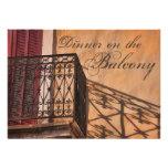 Summer Dinner on the Balcony French Style Custom Invite
