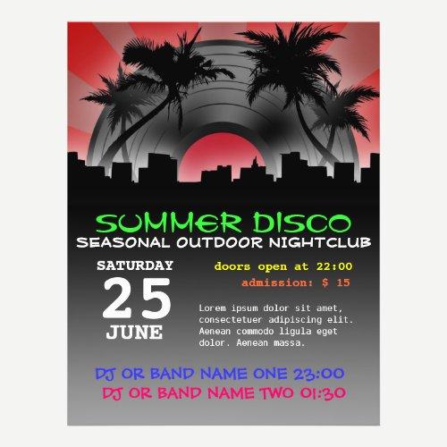 summer disco flyer