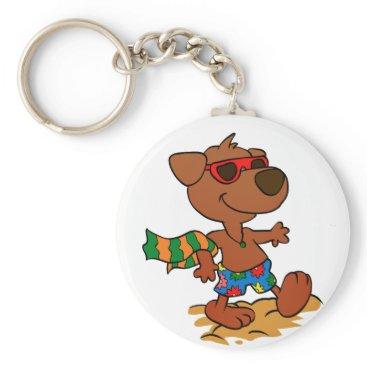 Summer dog keychain