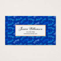 Summer Dragonfly Royal Blue Nature Lover Business Card