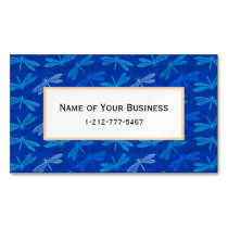 Summer Dragonfly Royal Blue Nature Lover Business Card Magnet