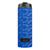 Summer Dragonfly Royal Blue Nature Lover Thermal Tumbler