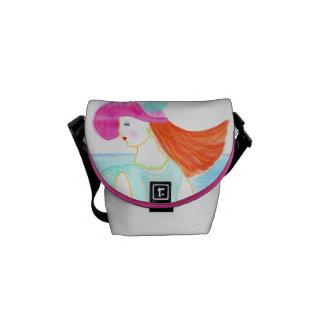 Summer Dream fashion lady illustration handbag. Messenger Bags