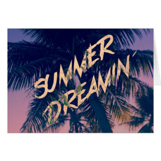 Summer Dreamin Tropical Island Palm Trees Sunrise Cards