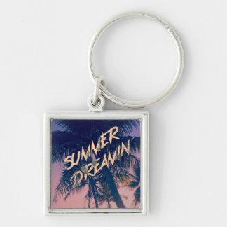 Summer Dreamin Tropical Island Palm Trees Sunrise Keychains