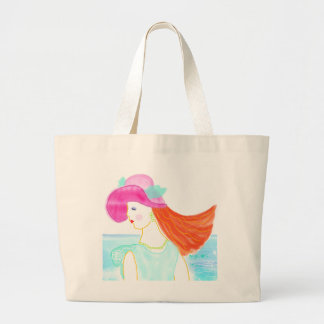 Summer dreams beach fashion lady illustration bag