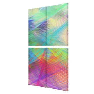 Summer Dreams Color Pastel Abstract Quad Canvas Print