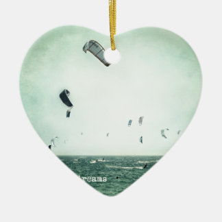 Summer dreams. Kite surf Ceramic Ornament