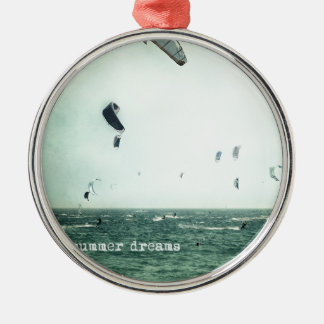 Summer dreams. Kite surf Metal Ornament