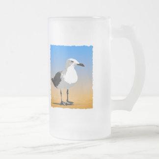 Summer dreams make me feel fine mug. frosted glass beer mug