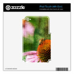 Summer Echinacea Skins For iPod Touch 4G