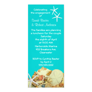 """Summer Engagement Party Invitations 4"""" X 9.25"""" Invitation Card"""
