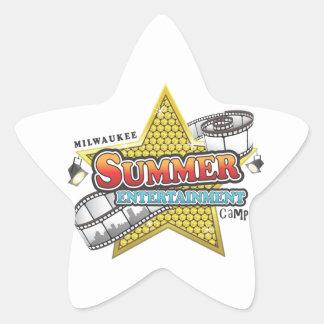 Summer Entertainment Camp Star Sticker