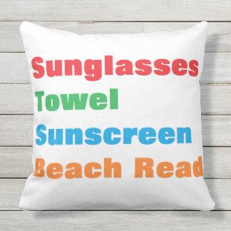 """""""Summer Essentials"""" Outdoor Pillow"""