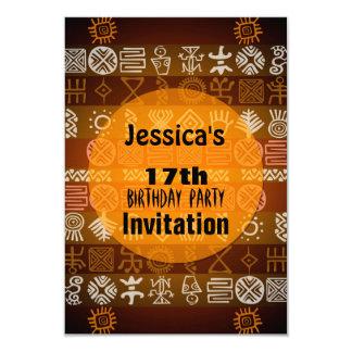 Summer Ethnic 17th Birthday Party Invitation