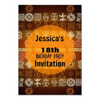 Summer Ethnic 18th Birthday Party Invitation