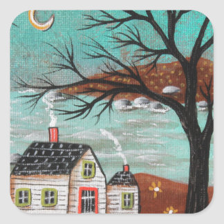 Summer Eve By The Lake Square Sticker