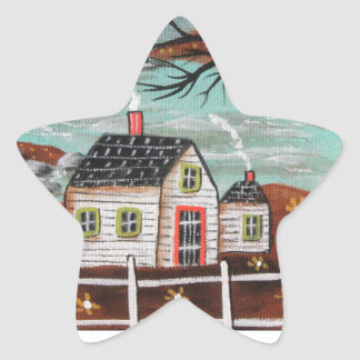 Summer Eve By The Lake Star Sticker