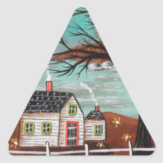 Summer Eve By The Lake Triangle Sticker