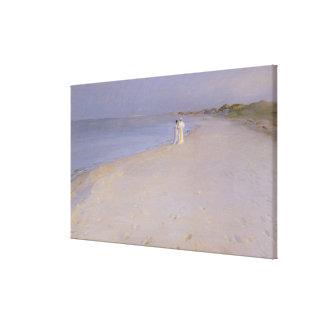 Summer evening at the South Beach, Skagen, 1893 Canvas Print